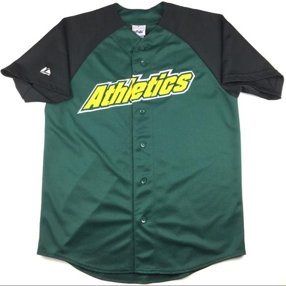 timeless design 9919b 651b0 VTG Majestic MLB Oakland Athletics Baseball Jersey